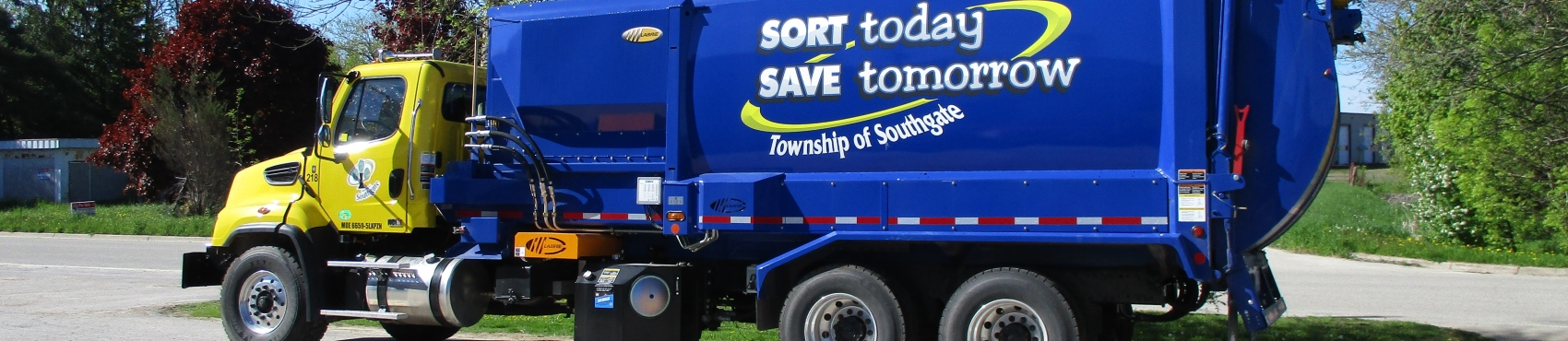 A southgate recycling truck